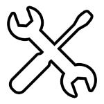 Screw and Wrench Icon